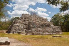 古老玛雅市的废墟Edzna 库存照片