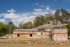 古老玛雅市的废墟Labna 免版税图库摄影