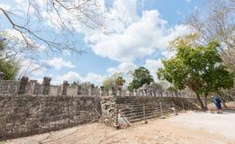 古老玛雅废墟的考古学站点,奇琴伊察,墨西哥 库存图片