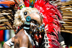 古老玛雅战士 库存照片