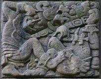 古老玛雅替补石头 库存图片