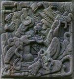 古老玛雅替补石头 免版税库存图片