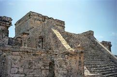 古老玛雅步骤 免版税库存照片