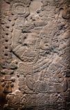 古老玛雅石雕刻 库存图片