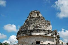 古老玛雅观测所塔 库存图片