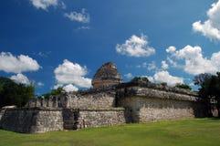 古老玛雅观测所 免版税库存照片