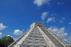 古老玛雅金字塔尤加坦 库存照片