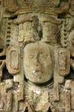古老玛雅雕塑 免版税库存图片