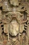 古老玛雅雕塑 库存照片