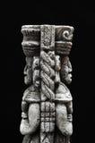 古老玛雅雕象 免版税库存图片