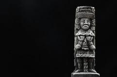 古老玛雅雕象 免版税库存照片