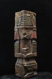 古老玛雅雕象 免版税图库摄影