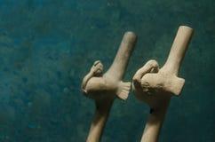 古老玛雅音乐管乐器 库存图片