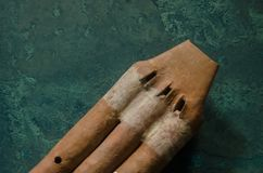 古老玛雅黏土乐器 免版税库存图片