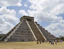 古老玛雅piramide步骤 图库摄影