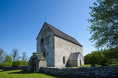 古老瑞典教会 免版税库存照片
