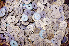 古老瓷中国人货币 库存图片