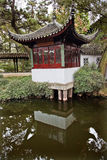 古老瓷庭院塔红色苏州 库存图片