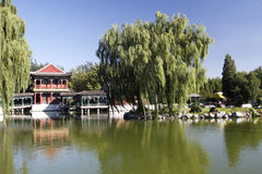 古老瓷庭院风景 库存照片
