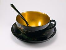 古老瓷杯子茶 免版税库存图片