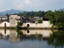 古老瓷hongcun房子 库存图片