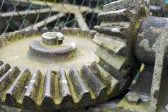 古老生锈的齿轮 免版税库存图片