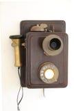 古老电话 免版税库存图片