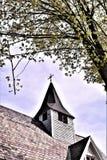 古老的天主教堂和尖顶在Groton,马萨诸塞,美国 免版税库存照片