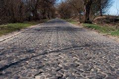古老的路石头 免版税图库摄影