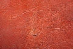 古老皮革产品标记 免版税库存图片