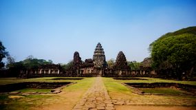 古老石城堡在泰国 库存照片