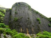 古老石堡垒墙壁 免版税库存图片