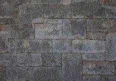 古老石墙做了†‹â€ ‹长方形灰色石头 图库摄影