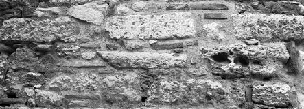 古老石墙特写镜头 图库摄影
