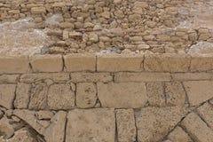 古老石墙的片段。 库存图片