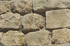 古老石墙纹理。 免版税库存图片