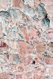 古老石墙 老红色石头和砖石工  美好的背景 免版税库存照片