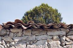 古老石头房子建筑细节 免版税库存图片