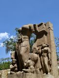 古老石神象印度 库存图片