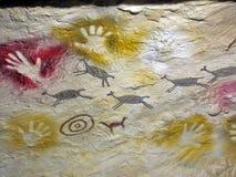 古老石洞壁画 库存图片