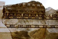 古老石头,迈拉,土耳其 免版税库存照片
