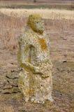 古老石scythian神象 免版税库存照片