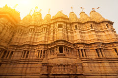 古老砂岩做了Jaisalmer堡垒 库存图片