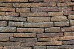 古老砖墙在清迈,北泰国 图库摄影