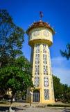 古老砖水塔在藩切,越南 图库摄影