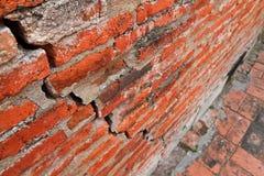 古老破裂的墙壁 免版税库存照片