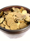 古老碗硬币 免版税库存图片