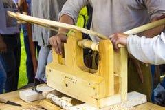 古老碾碎机制木头 免版税库存图片