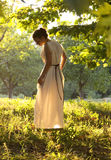 古老礼服的希腊女孩 图库摄影