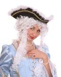 古老礼服纵向妇女 免版税库存照片